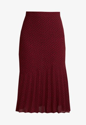 DOT HALF PLEAT MIDI - A-line skjørt - wine