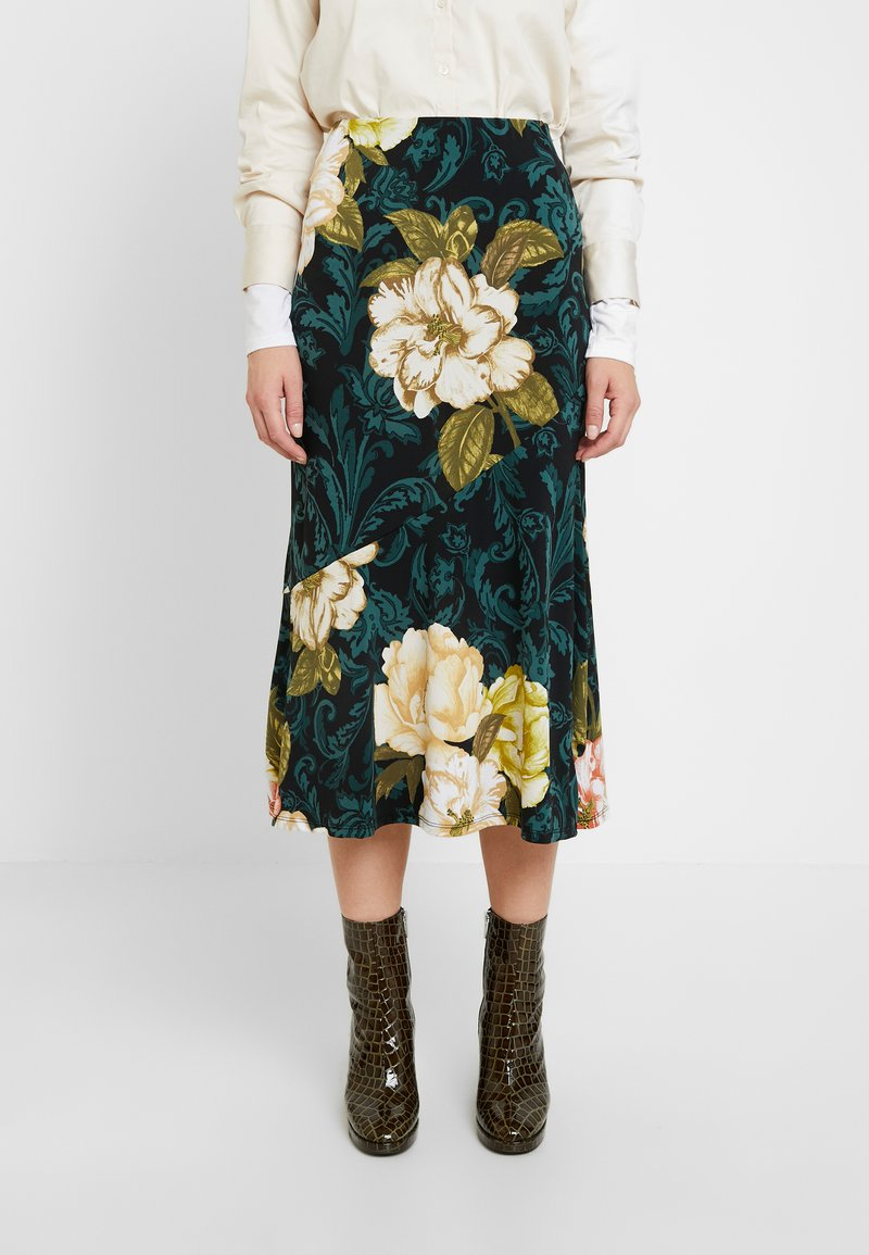 Dorothy Perkins - FLORAL MIDI - Áčková sukně - multi coloured