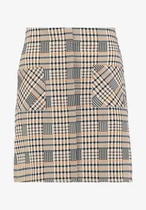 CHECK - A-line skirt - multi-coloured