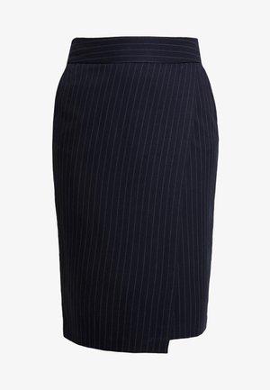 PINSTRIPE SKIRT - Zavinovací sukně - navy blue