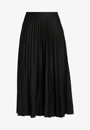 PLEATED MIDAXI - Falda larga - black