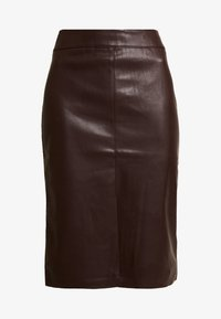 Dorothy Perkins - SPLIT FRONT MIDI SKIRT - Kokerrok - brown - 3