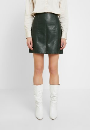 SEAM DETAIL MINI SKIRT - Mini skirt - khaki