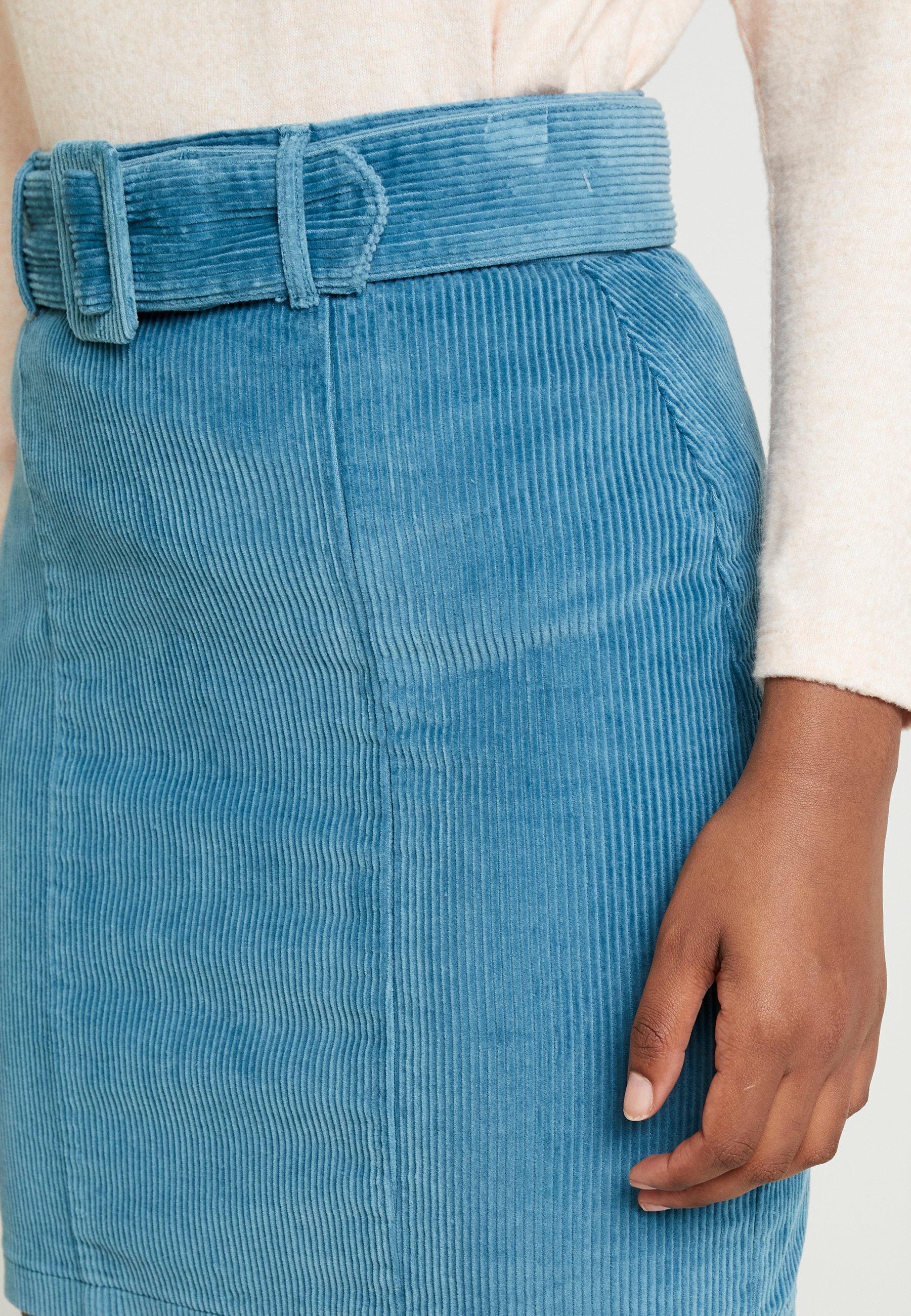 Dorothy Perkins SELF BELT - Spódnica trapezowa - blue