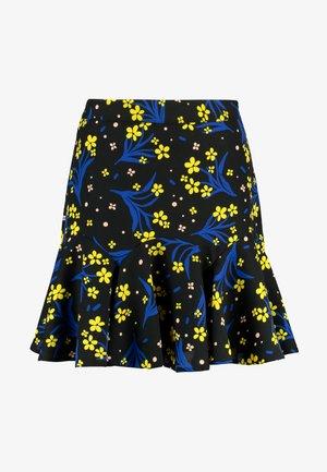 LOLA SKYE PRINTED FLOUCE - Mini skirt - black