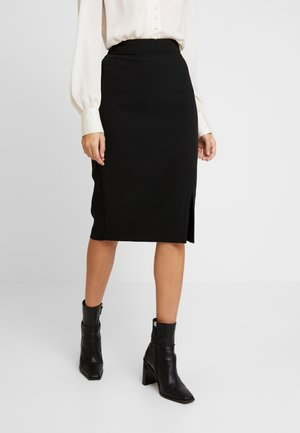 BUTTON SKIRT - A-line skirt - black
