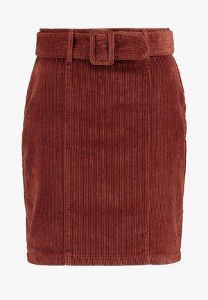 SELF BELT MINI - Mini skirt - tan