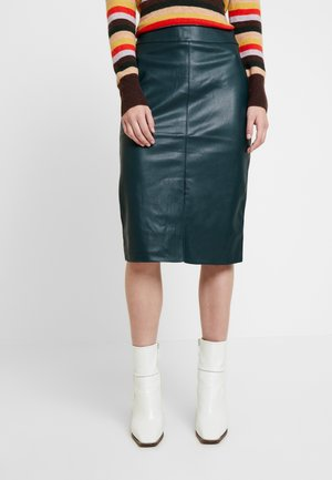 SPLIT FRONT MIDI SKIRT - Pennkjol - green