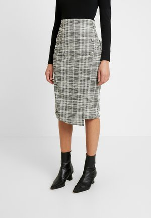 ASYMMETRIC PENCIL SKIRT - Spódnica ołówkowa  - black
