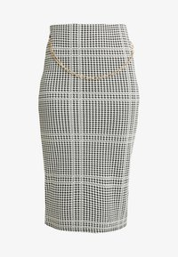Dorothy Perkins - DOGTOOTH CHAIN PULL ON PENCIL SKIRT - Spódnica ołówkowa  - black