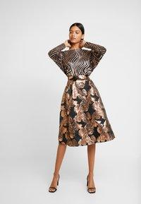 Dorothy Perkins - MIDI SKIRT - A-line skirt - black - 1