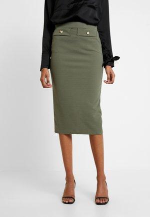 TWO POCKET PENCIL SKIRT - Pencil skirt - khaki
