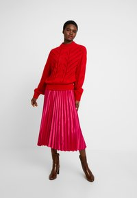 Dorothy Perkins - PLEAT SKIRT - A-lijn rok - pink - 1