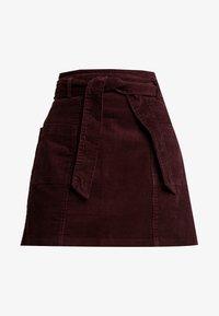 Dorothy Perkins - LOLA SKYE PAPERBAG SKIRT - A-line skirt - oxblood - 4