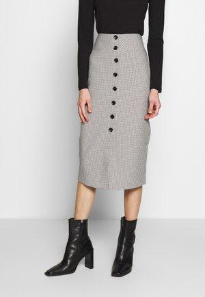 NINA BUTTON FRONT SKIRT - Pencil skirt - beige