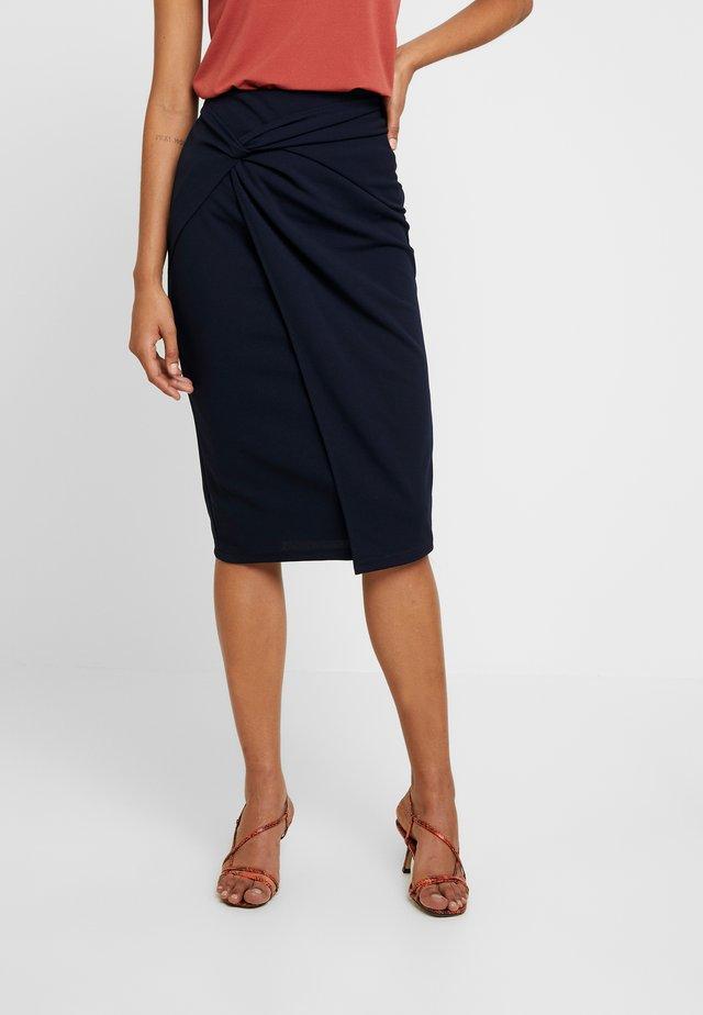 TWIST FRONT PENCIL SKIRT - Pencil skirt - navy