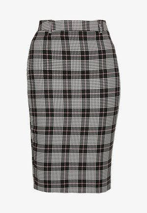 LIZ CHECK PENCIL SKIRT - Pencil skirt - multi/dark