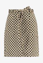TIE WAIST - Mini skirt - camel