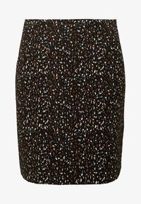 Dorothy Perkins - ANIMAL TEXTURED SKIRT - Mini skirt - black - 4