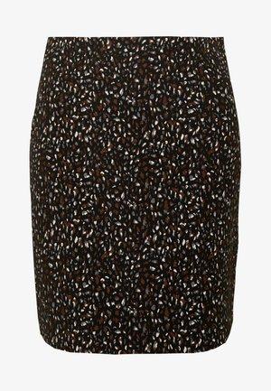 ANIMAL TEXTURED SKIRT - Mini skirt - black