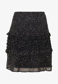 Dorothy Perkins - SQUGGLE PRINT RUFFLE SKIRT - A-line skirt - black - 3