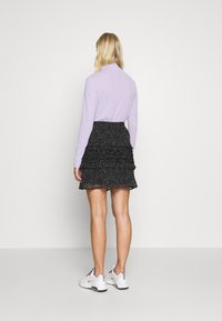 Dorothy Perkins - SQUGGLE PRINT RUFFLE SKIRT - A-line skirt - black - 2