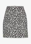 MONO ANIMAL TEXTURED SKIRT - A-line skirt - black