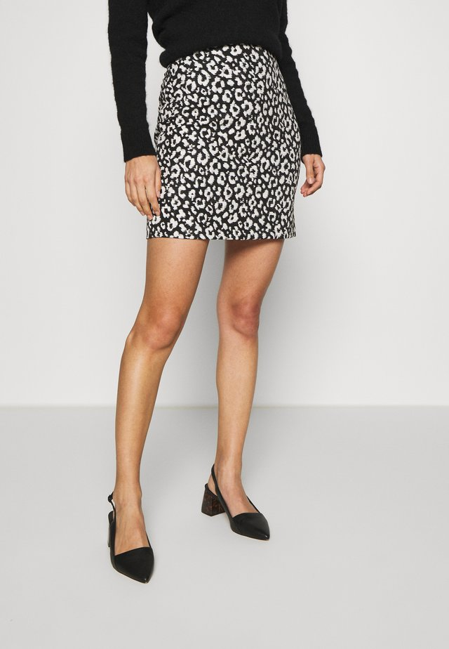 MONO ANIMAL TEXTURED SKIRT - A-linjainen hame - black