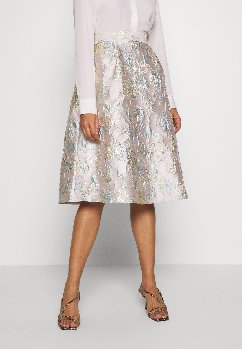 Dorothy Perkins - LUXE MIDI SKIRT - A-line skirt - grey
