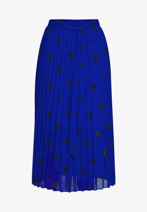 SPOT PLEAT MIDI SKIRT - Spódnica trapezowa - blue