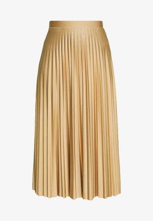 PLEATED MIDAXI SKIRT - A-line skirt - camel