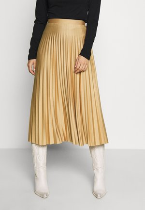 PLEATED MIDAXI SKIRT - A-line skjørt - camel