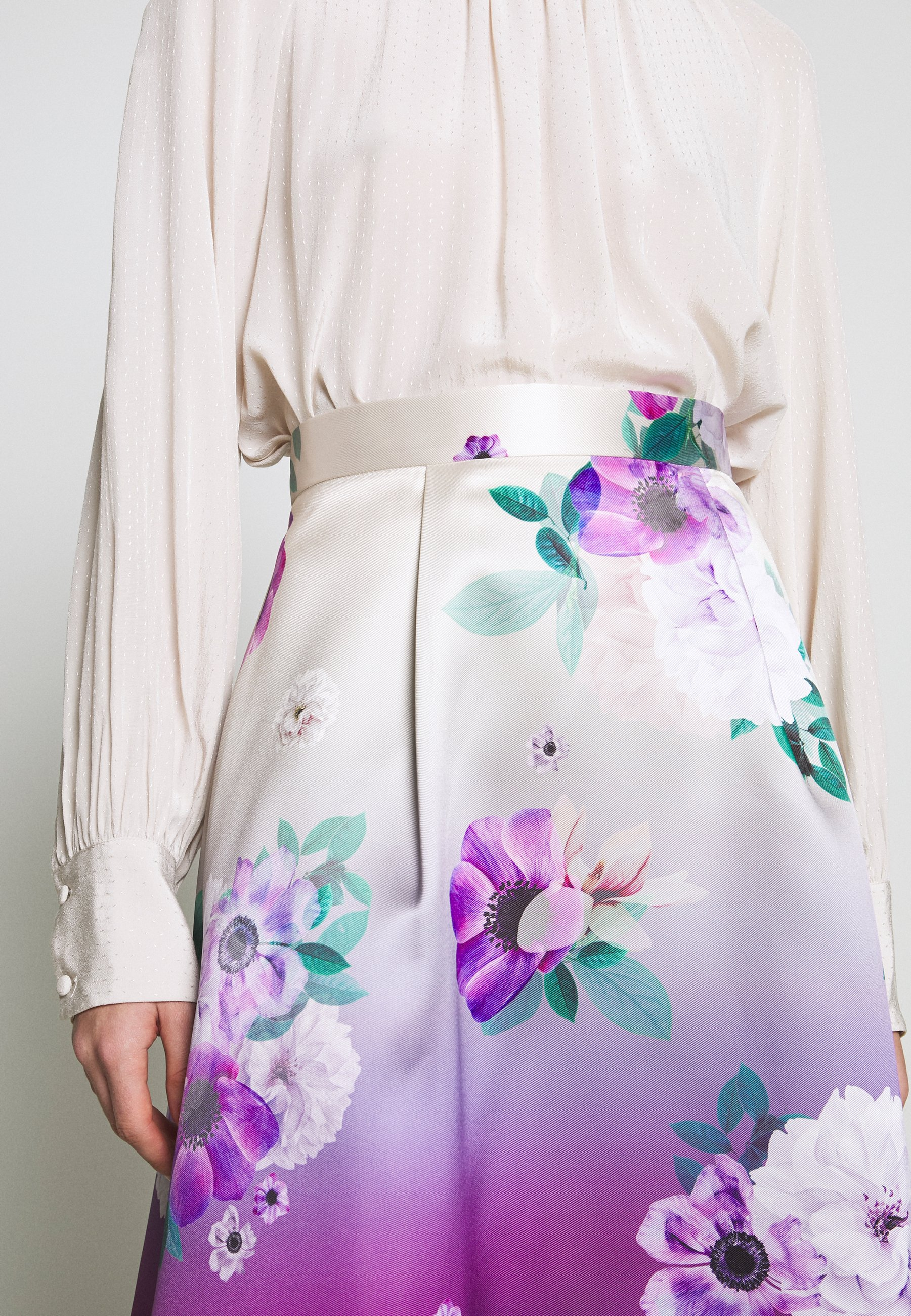 Dorothy Perkins Luxe Ombre Floral Midi Skirt - A-snit Nederdel/ A-formede Nederdele Navy