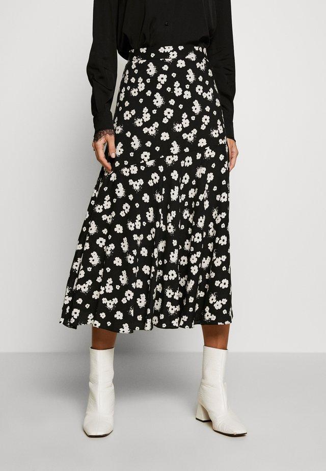 MONO DAISY SPUN MIDI SKIRT - A-line skirt - black