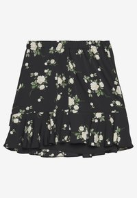 Dorothy Perkins - SUSTAINABLE FLORAL RUFFLE SKIRT - A-line skirt - black - 1