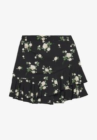 Dorothy Perkins - SUSTAINABLE FLORAL RUFFLE SKIRT - A-line skirt - black - 0