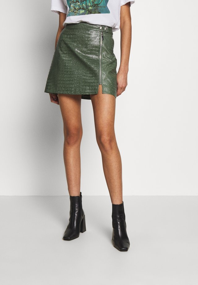 LOLA SKYE SIDE ZIP SKIRT - A-linjainen hame - green