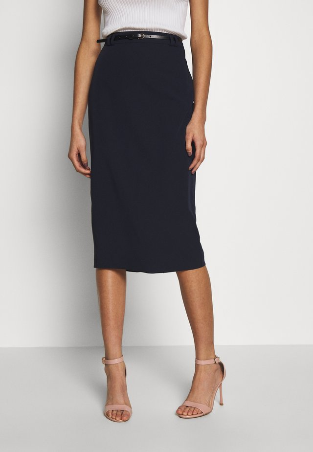 NAPLES MIDI SKIRT - Kynähame - navy
