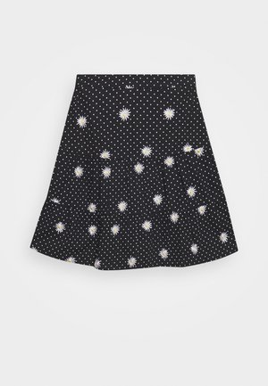 DAISY SPOT TIERED MINI SKIRT - A-snit nederdel/ A-formede nederdele - black