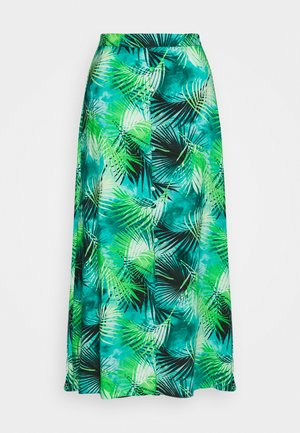 TROPICAL MIDAXI SKIRT - Gonna a campana - green