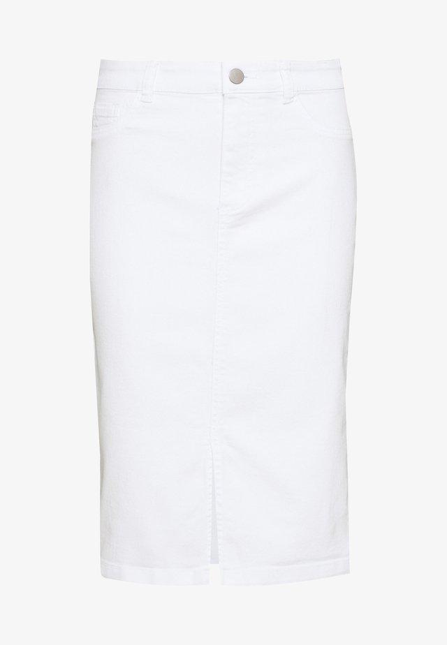 MIDI SKIRT - Pencil skirt - white