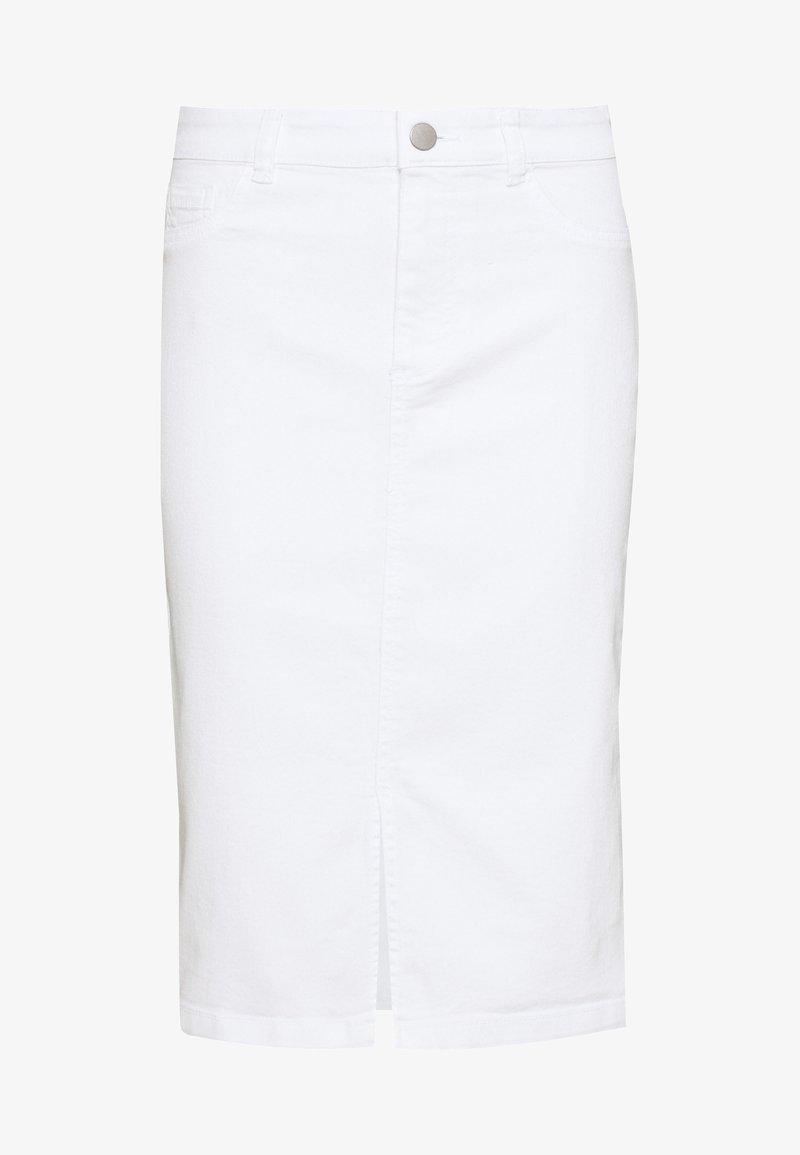 Dorothy Perkins - MIDI SKIRT - Pencil skirt - white