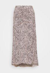 Dorothy Perkins - LEOPARD RUCHED MIDI SKIRT - A-line skirt - black - 0
