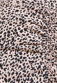 Dorothy Perkins - LEOPARD RUCHED MIDI SKIRT - A-line skirt - black - 2