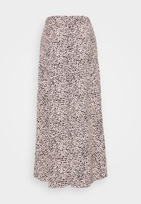 Dorothy Perkins - LEOPARD RUCHED MIDI SKIRT - A-line skirt - black - 1