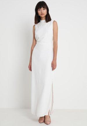 EMBELLISHED HIGH NECK  - Společenské šaty - white