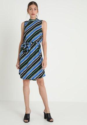 STRIPE SHIFT DRESS - Robe d'été - blue/black