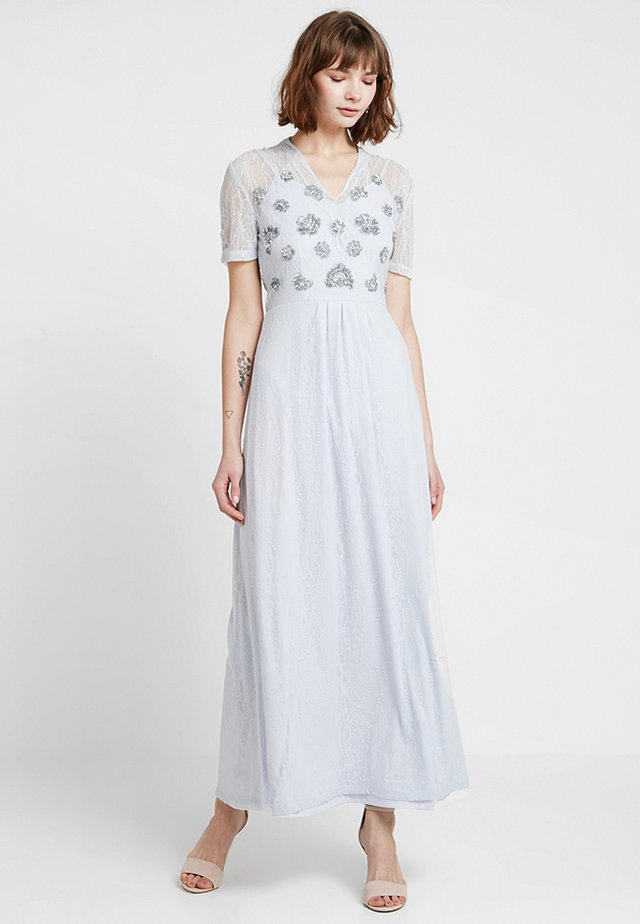 FLORAL EMBROIDERED MAXI - Occasion wear - blue
