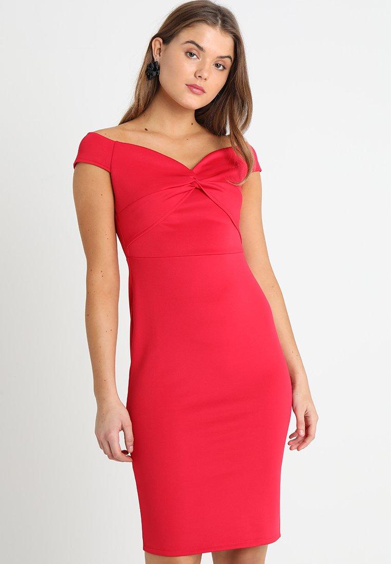 Dorothy Perkins - BARDOT TWIST PENCIL - Vestido de tubo - red