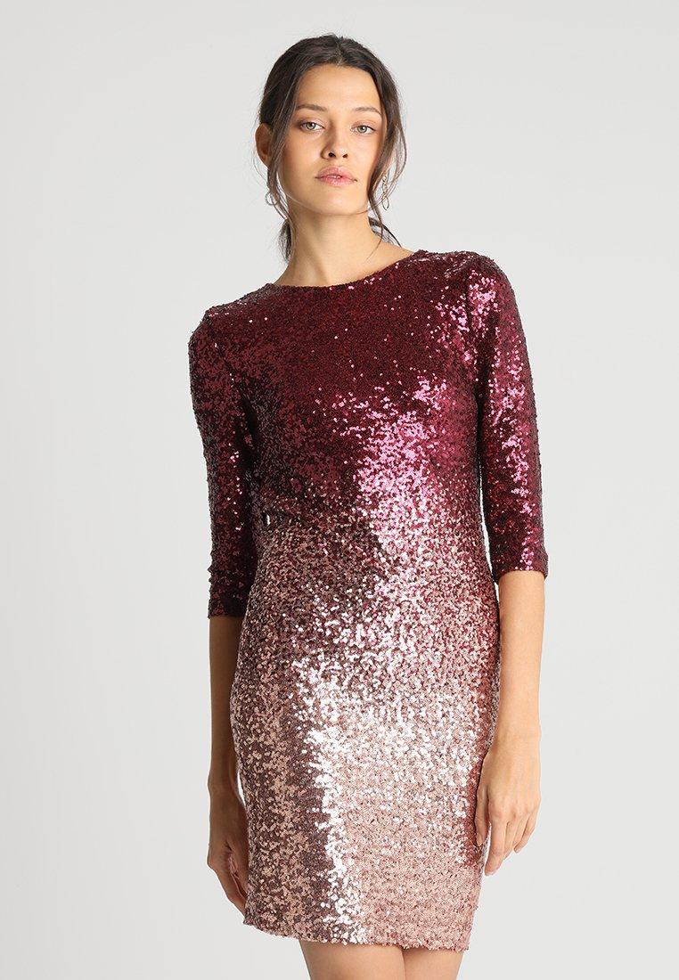Dorothy Perkins - OMBRE SEQUIN BODYCON - Cocktailkleid/festliches Kleid - pink/glod